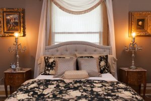 High end luxury linens, queen size bed. (photos by Rebecca Saniga Photography)