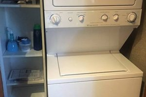 En-suite washer/dryer and closet