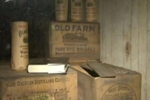 Schedule a house tour to see the rare 1912 Old Farm Whiskey find!